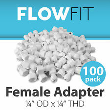 """Female Adapter 1/4"""" Fitting Connection for Water Filters / RO Systems - 100 Pack"""