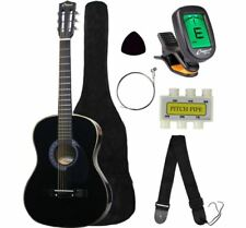 """Acoustic Guitar 38"""" Inch With Digital Tuner Starter Package Kids Wood Frame"""