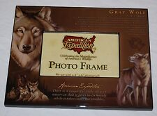 "WILDLIFE GRAY WOLF 8"" X 10"" PHOTO FRAME HOLDS A  4"" X 6"" PHOTOGRAPH"