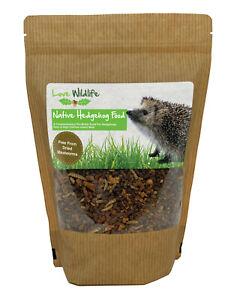 Love Wildlife Native Hedgehog Food 650g Pouch, UK Wildlife Food - No Mealworms