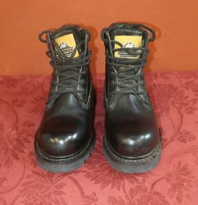 Mens Groundwork Size 8 Black Leather Safety Boots  - free UK postage