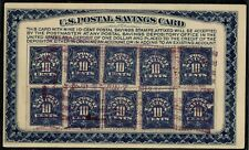 #PS5 1911 USED DEPOSIT CARD WITH 10 PS4 STAMPS ( CAT. $40.00 )