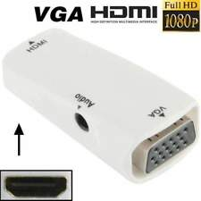 AMZER Full HD 1080P HDMI Female to VGA & Audio Adapter for HDTV Projector White