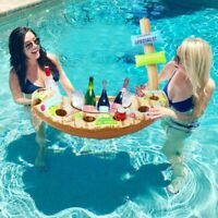 Boat Beer Pong Water Swimming Pool Accessories Ice Bucket Cooler Inflatable Gift