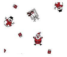 5m x 80cm Roll Christmas Cellophane Wrap Santa, snowman & reindeer. Florist / /