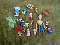 Toy Figures and Trolls Lot of 16 Assorted