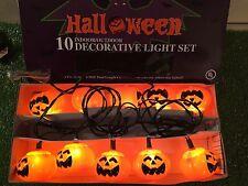 New Set Of Ten Halloween Blow Mold Jack-O-Lantern Pumpkin Lights