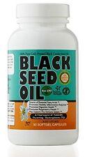 Black Seed 100% Pure Black Cumin Seed Oil 90 Softgel Capsules 500 mg