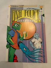 1987 The Fish Police Special No. 1 Comico Comic Book