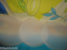 NEW VINTAGE TUPPERWARE LOT SHEER REPLACEMENT CEREAL BOWL LIDS / SEALS # 227 C