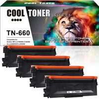 4PK Compatible for Brother TN660 TN630 Toner MFC-L2700DW HL-L2340DW HL-L2300D