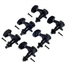 Black 6 Right Twist Locking Tuner Machine Heads Electric Guitar Tuning Pegs