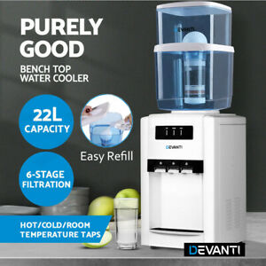 Water Cooler Water Dispenser Bench Top Purifier 6 Filter 3 Temperature 22L