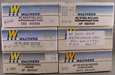 """Walthers - 6 Empty White 8"""" Boxes"""