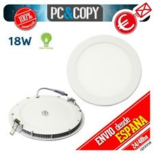 R1070 Downlight Panel LED 18W Techo Luz Blanca Redonda plano Empotrable