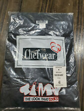 Chefwear Four Star Black Chef Coat w/ cloth knot buttons Brand New in Package 4x