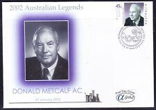 "Australia 2002 ""Alpha"" Donald Metcalf First Day Cover Apm34330 Sheet Variety"