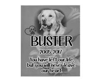 Personalised Photo Pet Memorial Bereavement Plaque Sympathy Poem Dog Best Friend