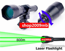 Hunt ND3x50 Night Vision Green Laser Designator Adjustable Rail Tube Two Switchs