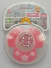 NUBY NATURAL TOUCH Softees hochet dentition BABY GIRL 6m+
