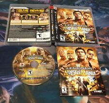 WWE Legends of WrestleMania ( Sony Playstation 3 ),PS3 ,Complete w/Case & Manual