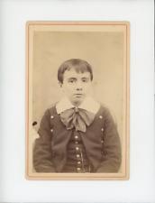 Portrait d'enfant Vintage albumen Print Tirage albuminé  10x14  Circa