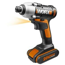 WORX WX290.2 18V 20V MAX Cordless Impact Driver with 2.0 Ah Battery