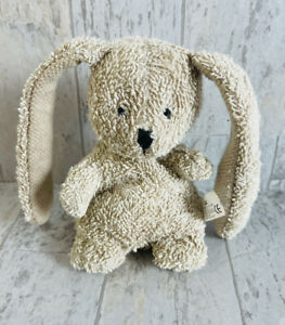 """Russ Berrie Bunny Rabbit Home Buddies Nibbles Long Ears Terry Cloth 6"""""""