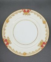 4 VINTAGE MEITO CHINA HAND PAINTED BREAD/BUTTER PLATES GOLD/FLORAL PATTERN JAPAN