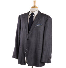 NWT $1695 ARMANI COLLEZIONI Classic-Fit Woven Gray Linen-Blend Sport Coat 46 R