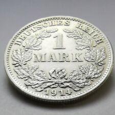 German Empire Coin 1 Mark 0.900 Silver (1914 D)