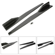 Universal Carbon Fiber Black Car Side Skirt Rocker Splitters Winglet Wings 2PCS