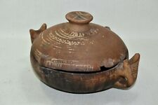 Antique Tajine Sahara North West Africa Handmade Moroccan Cooking Art Small Pot