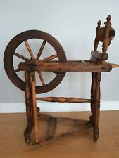 Antique Wooden Spinning Wheel Country Folk Primitive Old