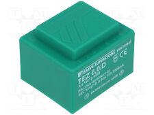 Transformador de alimentación PCB 12V 6VA 500mA 45x38x32mm VERDE TEZ6/D230/12V
