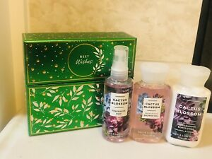 Bath and Body Works CACTUS BLOSSOM Travel Mini 3 PCS GIFT SET Mist Wash Lotion