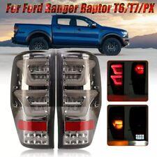 Rear Tail Brake Light Lamps For Ford Ranger T6 T7 XL XLT MK1 MK2 2012-2018 Smoke