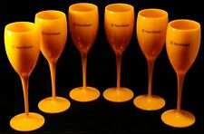 Veuve Clicquot Champagne Yellow Acrylic Flute Party Glasses Accessory New Set x6