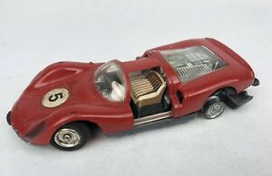 Vintage SCHUCO 1044 PORSCHE CARRERA Micro Racer Red AS IS For Parts Or Display