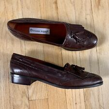 Never Worn Vintage Etienne Aigner Women/'s Woven Leather Loafers