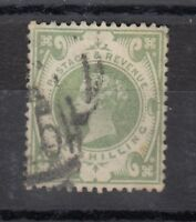 GB QV 1887 1/- Green SG211 FU X9570