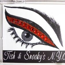 Glamour Eyes - Bejewelled Glitter Stick on Eyeliner Strips - Ruby Slippers Red