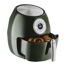 "Emeril 5.3-qt Digital Air Fryer with 7"" Cake Pan - Hunter Green Re-manufactured"