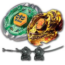 Beyblade 2 Pack Gold Drago Destructor + Flame Libra + 2x LL2 Launcher Rip Cord