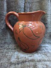 "Studio Nova Adobe Pattern 40oz Pitcher Decanter Pottery From Portugal 6.25"""