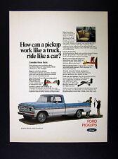 1971 Ford Ranger XLT pickup truck blue white vintage print Ad