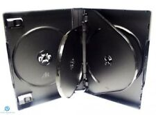 100 x 6 Way Black DVD 26mm Spine Holds 6 Discs Empty New Replacement Case HQ AAA