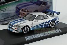 1/43 Scale Greenlight Fast & Furious Brian's 1999 Nissan Skyline GT-R 86208