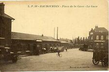 CARTE POSTALE / POSTCARD / HAUBOURDIN PLACE DE LA GARE / LA GARE