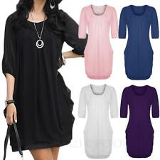 Chiffon 3/4 Sleeve Mini Regular Size Dresses for Women